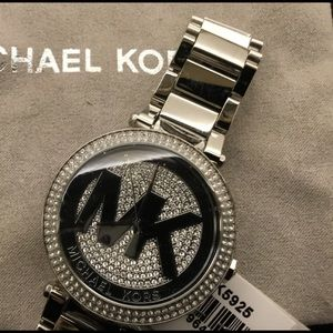 New MK silver watch